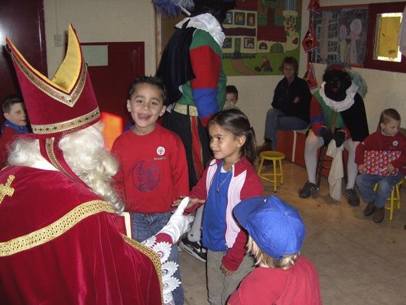 Sinterklaas op bezoek bij de Bevers